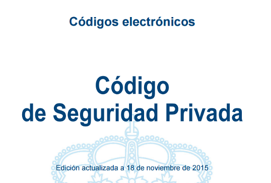 codigo seguridad privada